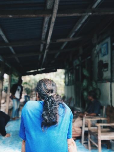 Nyong Suku Boti selalu panjang rambut